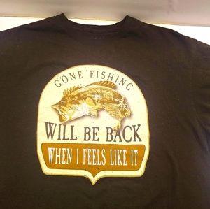Gone Fishing Tee Shirt